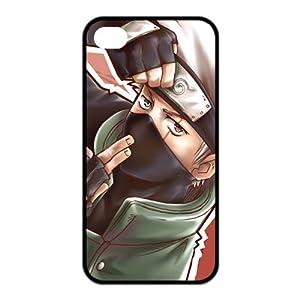 Naruto Hatake Kakashi Cool Syaringan Unique Durable TPU Rubber Case Cover for Apple Iphone 4 4S Custom Design Fashion DIY