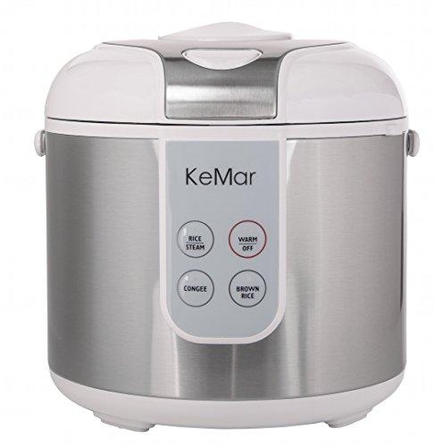 KeMar-KRC-130-Digitaler-Reiskocher-BPA-frei-Brauner-Reis-Naturreis-Dampfgarer-mit-Warmhaltefunktion-Titan-Keramik-antihaftbeschichteter-Innentopf-und-Edelstahl-Dmpfeinsatz