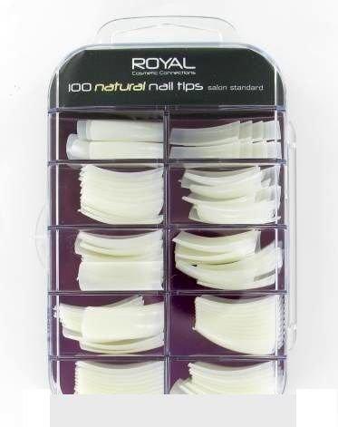 Royal acrylic nails.