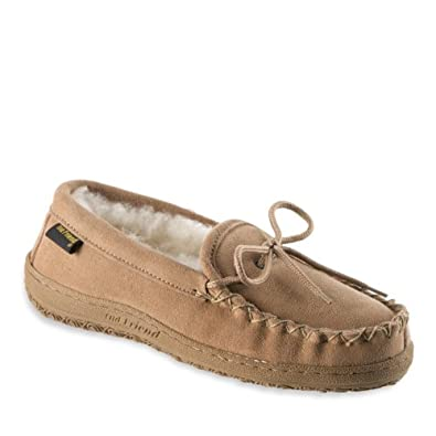 Old Friend Chestnut Women's Loafer Moccasin Slippers