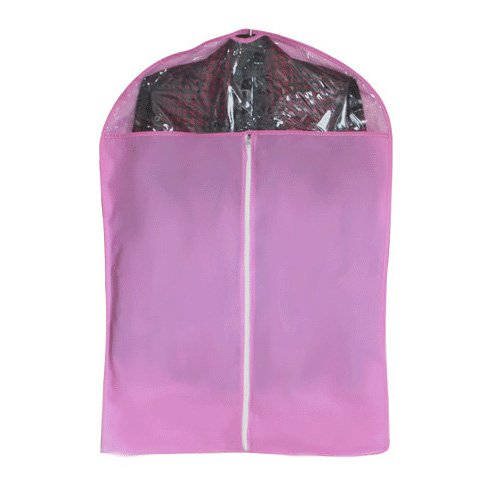 Shp-Zone Non-Woven Fabrics Storage Suit Garment Cover 7 Colors 3 Size Large Medium And Small (Pink, Small) front-542682