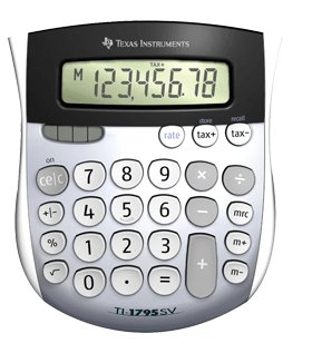 TI 1795SV Solar Power Calculator 1795SVFBL2L1B Pack Of 12