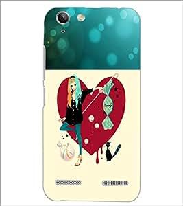PrintDhaba Smart Girl D-1191 Back Case Cover for LENOVO A6020a46 (Multi-Coloured)