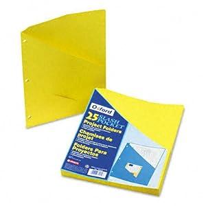 ~:~ ESSELTE PENDAFLEX CORP. ~:~ Essentials Slash Pocket Project Folders, Jacket, Ltr, YW, 25/pk