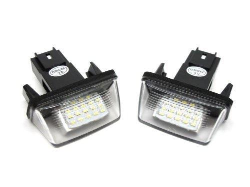 Newsun 12V Led Number License Plate Light For Peugeot /Citroen Error Free 18 Smd Number Plate Lamp Kit For 206 207 306 406 C3 C4 C5 C6