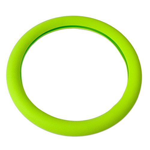 Soft Silicone Steering Wheel Cover Shell Skidproof Odorless Eco Friendly (green) (Tiida Steering Wheel Cover compare prices)