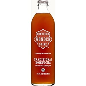 Kombucha Wonder Drink-Traditional(95% Organic), 14-Ounce (Pack of 12)
