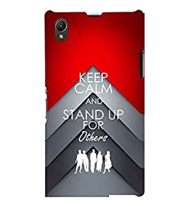 PRINTSWAG QUOTE Designer Back Cover Case for SONY XPERIA Z1