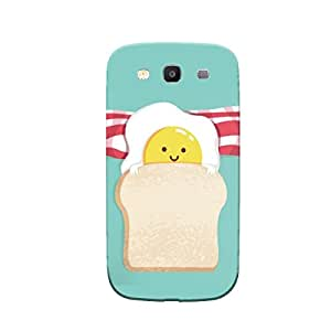 Samsung Galaxy S3 Multicolor Egg Toast Mobile Cover
