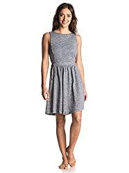 Roxy Women's Cotton Skater Dress (ERJKD03030-BTC0_Grey _Medium)