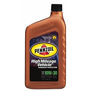 Pennzoil 160554 high mileage vehicle 10w30 for Pennzoil high mileage motor oil