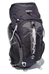 JanSport Trail Series Katahdin External Frame Backpack, Greytar/Forge Grey, 40-Liter