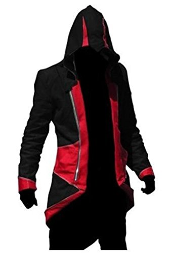 Cosplay Costume Hoodie/Jacket/Coat-10 Opitions for the fans,Black with Red,Men Large