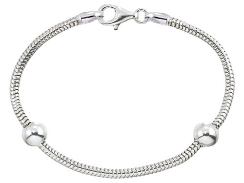 Zable(tm) 8.5 inches Sterling Silver Snake Bracelet