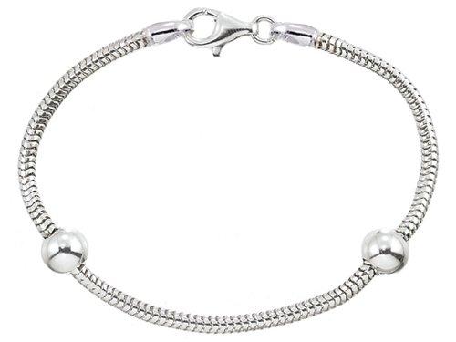 Zable(tm) 8.5 inches Sterling Silver Snake Bracelet