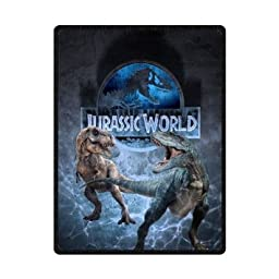 Sysuser Jurassic World Cool Dinasaur Custom Blanket 58x80 Inch Creative Cotton Blanket Indoor / Outdoor Blanket