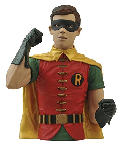 Diamond Select Toys Batman Classic 1966 TV Series: Robin Vinyl Bust Bank