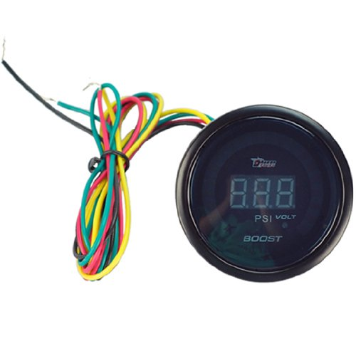 New Universal Auto Car 2Inches 52Mm Digital Color Analog Led Boost Psi Meter Racing Gauge