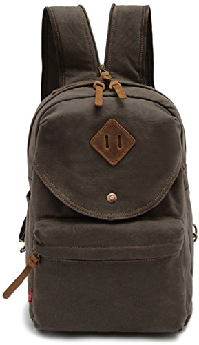 CLELO B507 Multifunctional Canvas Small Backpack Sling Bag Chest Pack,Army Green