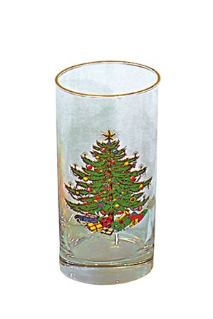 Cuthbertson Original Christmas Tree 12 Oz Highball, Set of 4 Cuthbertson Christmas Tree