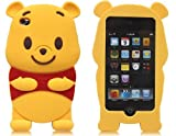 Luckystone 3D Cartoon Winnie the Pooh Soft Silicone Skin Case Cover for Ipod Touch 4/4g/4th Generation with 3d Winnie the Pooh Stylus Pen;