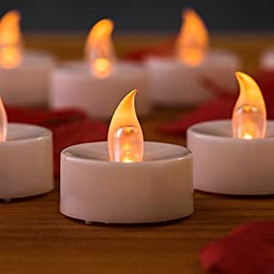 flameless tea lights by mars 24 yellow flickering led candles tealights free 100. Black Bedroom Furniture Sets. Home Design Ideas