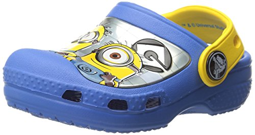 crocs CC Minions Clog (Toddler/Little Kid), Varsity Blue/Yellow, 10/11 M US Little Kid (Minion Kids)