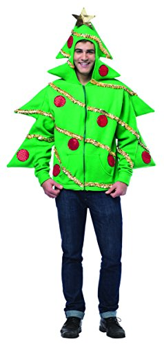 Rasta Imposta Men's Christmas Tree Hoodie, Green, X-Large