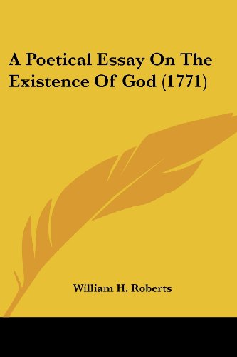 A Poetical Essay on the Existence of God (1771)