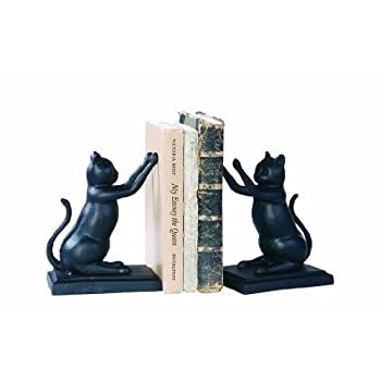 Creative Co-Op Black Cast Iron Cat Bookends