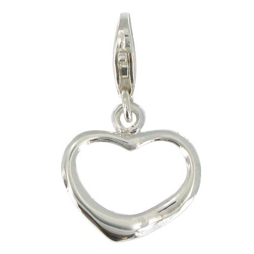 Les Poulettes Jewels - Charms Love Heart 925 Silver for Bracelet