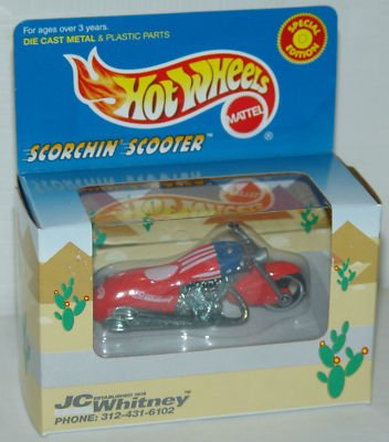 Hot Wheels Scorchin Scooter JC Whitney / Rare Red Special Edition