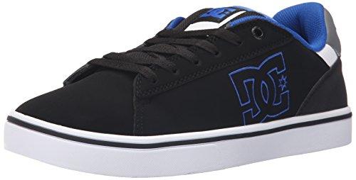 DC Men's Notch Skate Shoe, Black/Blue, 8.5 M US