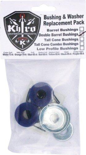Khiro Double Barrel Bushing/Wash Kit 85a Soft Blue (Soft Barrel Bushings compare prices)
