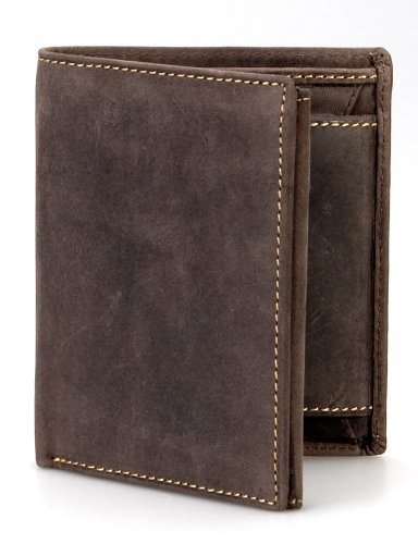 Visconti Hunter 708 Mens Coin & Id Holder Tri Fold Wallet In Oiled Tan Brown Leather