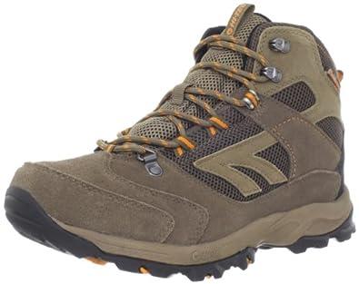 Hi-Tec Men's Flagstaff Waterproof Hiking Boot,Brown/Clementine,8 M US