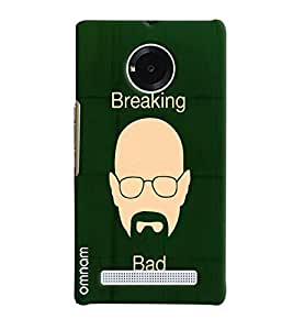 Omnam Breaking Bad Mouth Printed On Green Background Designer Back Cover Case For Micromax Yunique