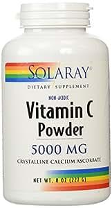 Solaray C Non-Acidic Crystalline Supplement, 5000 mg, 8 Ounce