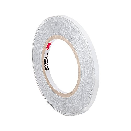 "Tapecase 3M Cn3490 0.25"" X 54.5Yd Gray Non-Woven Conductive Fabric Tape, 54.5 Yd Length, 0.25"" Width, Roll"