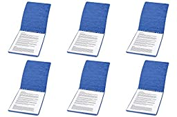 ACCO PRESSTEX Report Covers, Top Bound, 8.5 x 11 Inches, 2 Inch Capacity, Dark Blue (A7017023), 6 Packs