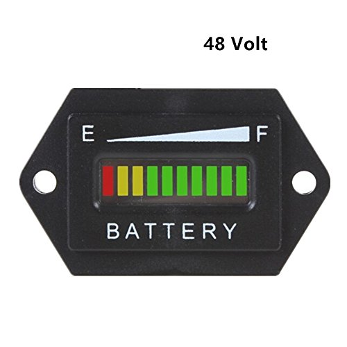 Aimila 48V LED Battery Charge Discharge Status Indicator Gauge Testers for Lead-acid Battery Golf Cart Club Car Hex (Club Car Battery compare prices)