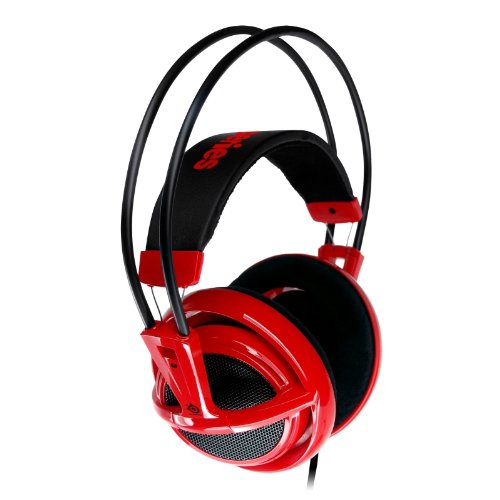 SteelSeries Siberia V2 Full Size Headset with Microphone - Red (PC)