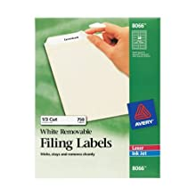 Avery Removable White File Folder Labels, 750 Pack (8066)