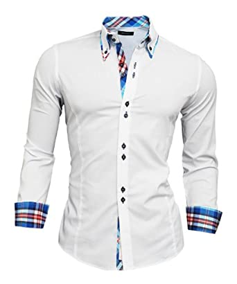 Mens Dress Shirts Slim Fit