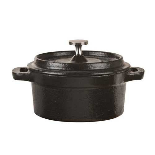 World Tableware Inc Round Miniature Dutch Oven with Lid, 9 Ounce -- 12 per case.