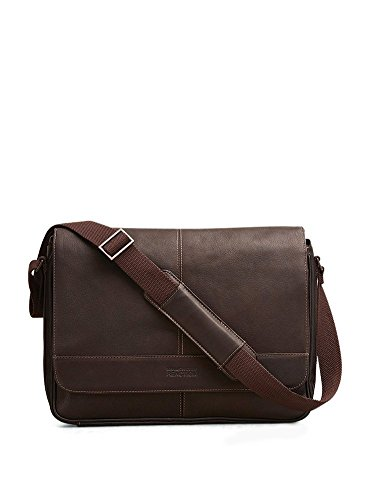 Kenneth Cole Risky Business Messenger Bag, Dark Brown, One Size