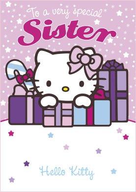 Hello Kitty Sister Christmas Card