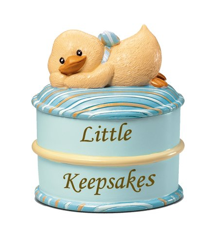 Russ Berrie Keepsake Box, Blue (Discontinued by Manufacturer)