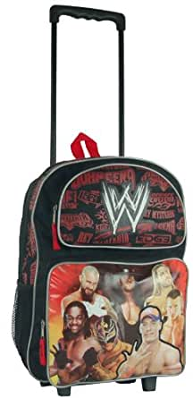 Amazon.com: Black and Red WWE Rolling Backpack - Boys