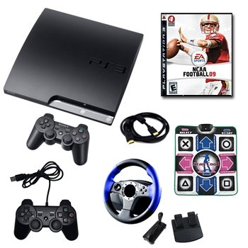 Sony Playstation 3 160GB Mega Holiday Bundle with Game,Extra Controller and more